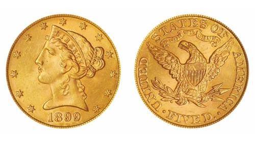 5 dollari liberty