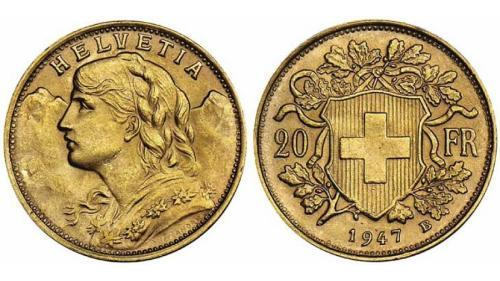 20 Franchi svizzeri (Marengo)